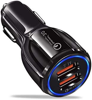 BESTATIME 2019 Car Charger Dual USB Fast Car Charger Adapter Compatible with iPhone Galaxy S10 S9 S8 S7 S6 Note LG Nexus Pixel etc QC 3.0 3.1A Qualcomm Quick Charge 3.0