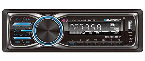 Blaupunkt New Jersey NJ8820 MP3 and FM Bluetooth Car Stereo Receiver with Remote Control and Removable Face Plate
