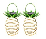 Chengfeng Garden Solar Lights, Pineapple Solar Path Lights, IP45 Waterproof 25 LED Outdoor Decor Path Lights Hanging Fairy Light, Warm White for Patio Path Home Décor Lighting 2 Pac