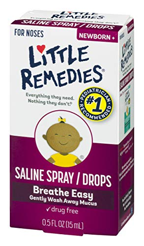 Little Remedies Saline Spray and Drops   Safe for Newborns   0.5 Fl Oz (Pack of 3)