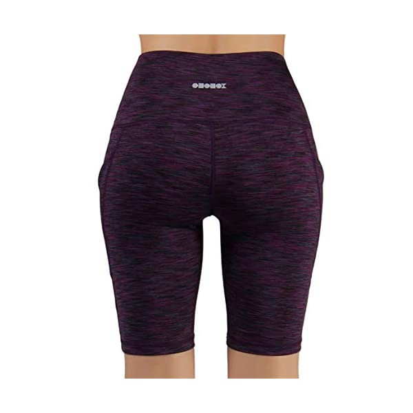ODODOS High Waist Out Pocket Yoga Short Tummy Control Workout Running Athletic Non See-Through Yoga Shorts 16