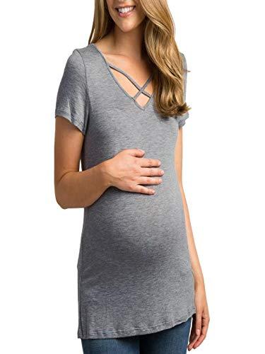 eee5fd958155 BANAA Maglietta Premaman Donna Estive Eleganti Camicie Sport T-Shirt Moda  Top Magliette Allattamento Maglia