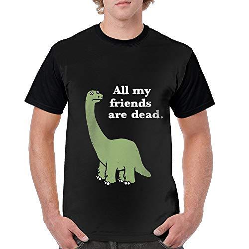 Hip Hop Dead T-shirt - All My Friends are Dead Dinosaur Mens Hip Hop Blend 3D Print Tee