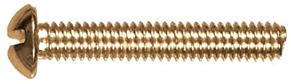 1//4 x 3-Inch 10-Pack Brass The Hillman Group 2138 Round Head Slotted Machine Screw