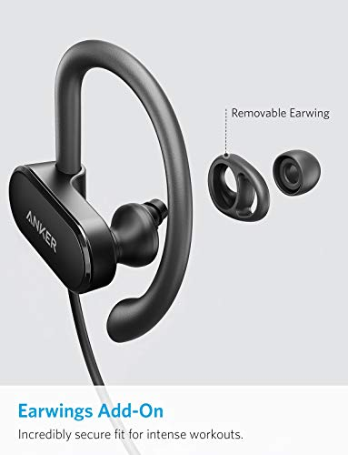 Anker SoundBuds Curve Wireless Headphones, Bluetooth 5.0 Sports Earphones, 18-Hour Battery, Workout Headset with IPX7 Waterproof-Black
