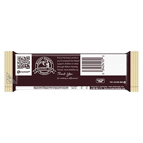 034000002412 - HERSHEY'S Chocolate Bar with Almonds, Milk Chocolate Candy Bar with Almonds, 1.45 Ounce Bar (Pack of 36) carousel main 3