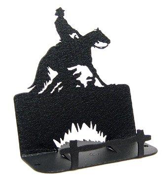 Reining Horse Business Card Holder