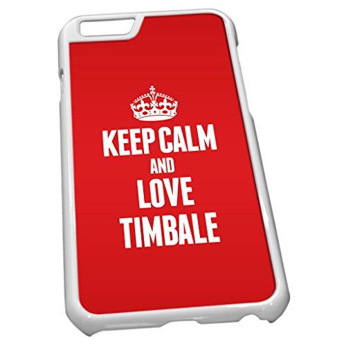Weiß Schutzhülle für iPhone 61614rot Keep Calm und Love Timbale