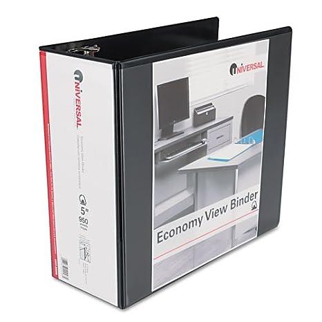 amazon com universal economy d ring vinyl view binder 5in