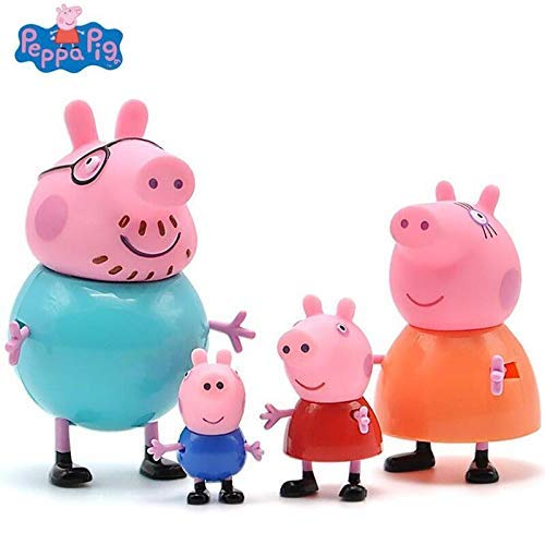 Children Toy Peppa Pig Family Pack George Daddy Pig Mommy Pig 4 Characters Set