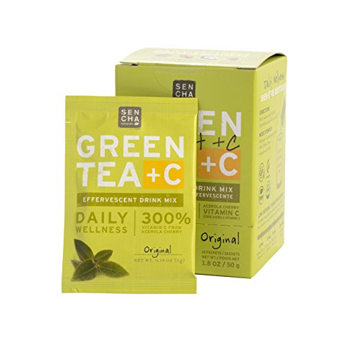 Sencha Naturals Green Tea +C, Dragonfruit, 10 Count