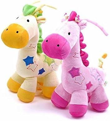 Doble unidades rosa y amarillo Jirafa Peluches Juguetes mano ...
