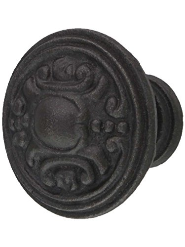 House of Antique Hardware R-08MG-350-AI Victorian Cast-Iron Cabinet Knob in Antique - Iron Antique Ai Finish