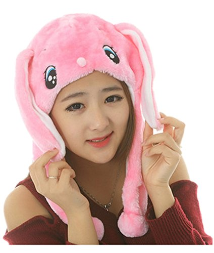 Funny Short Plush Multicolor Halloween Festival Party Creative Stereoscopic Forest Steppe Animals Mardi Gras Party Costume Hat (Cute Pink (Cute And Creative Costumes)