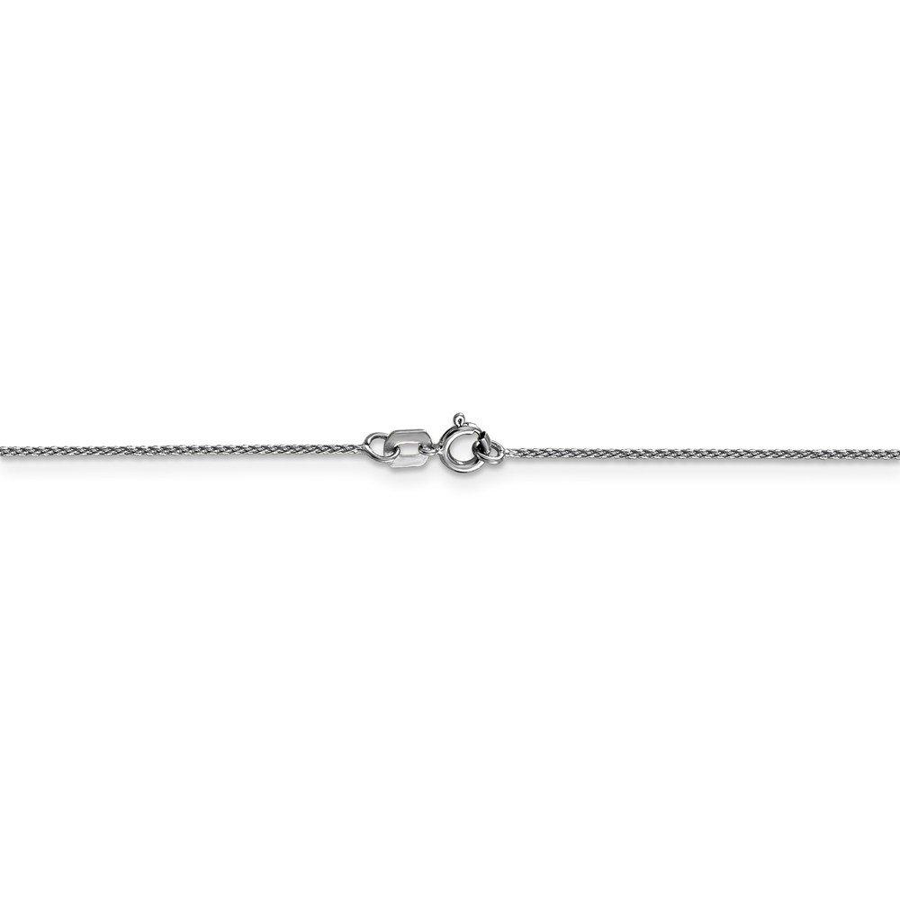 Jewelry Necklaces Chains 14k WG 0.65mm D//C Spiga Pendant Chain