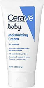 CeraVe Baby Cream | 5 Ounce | Gentle Moisturizing Cream with Hyaluronic Acid | Paraben, Sulfate, Fragrance Free
