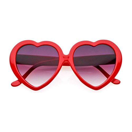 Heart Shaped Red Sunglasses - Heart Red Sunglasses Shaped