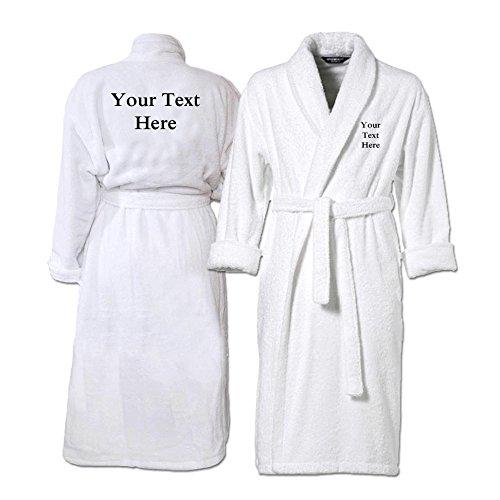 Bang Tidy Clothing Mens Personalised Bathrobes Embroidered Dressing ...