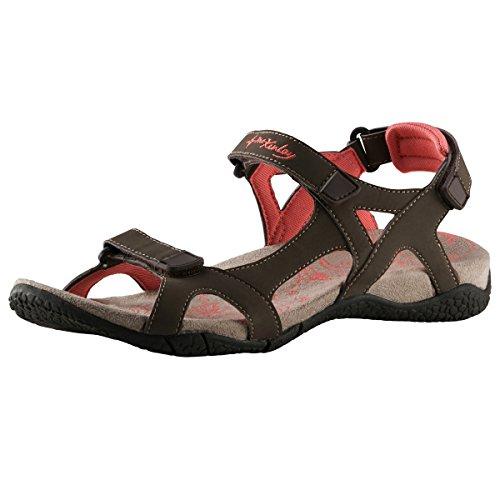 McKinley WoMen Trekkingsandale Mango Ii Ankle Strap Sandals, Brown/Orange Brown (Brown/Orange 000)