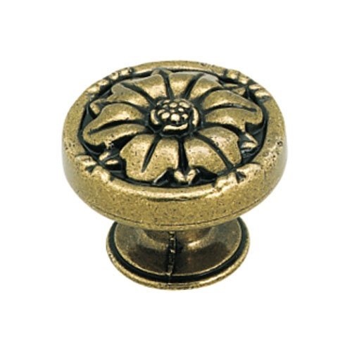 Amerock BP1336-O77 Natural Elegance Burnished Brass Flower Knob 1 11/32