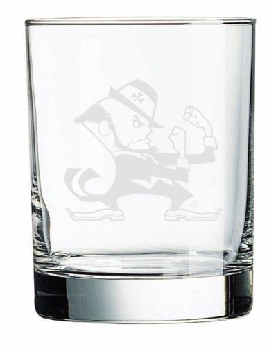 Irish Leprechaun Deep Etched Double Old Fashion Glass ()