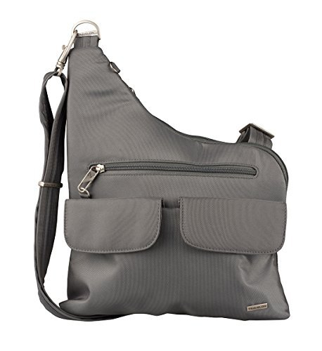 - Travelon Anti-Theft Cross-Body Bag, Two Pocket (Pewter)