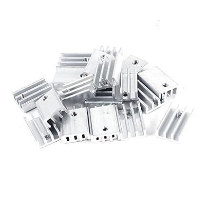 20 Pcs Alumínio dissipador de calor 15 milímetros x 11 milímetros x 5 mm para Chipset