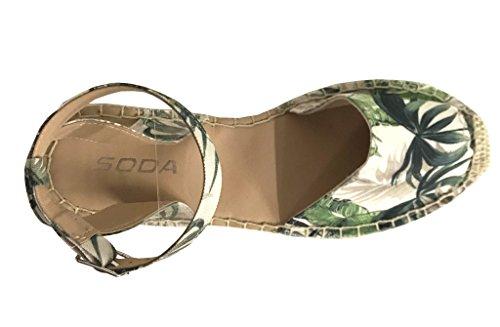 9ebe5cefee7 Soda Fiesta Women s Espadrilles Ankle Strap Braided Platform Sandals ...