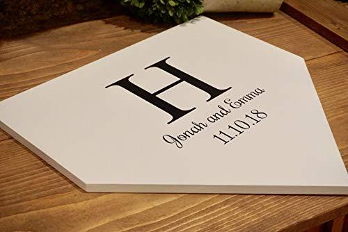 Faaca Home Plate Wedding Guest Book Personalized Home Plate Baseball Guest Book Wedding Guestbook Baseball Wedding Baseball Theme