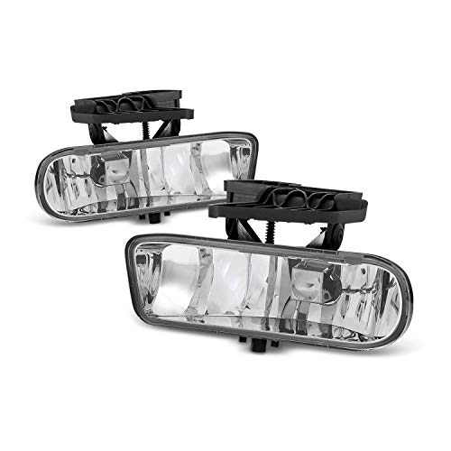 For 2000-2006 GMC Yukon 1999-2002 GMC Sierra Bumper Driving Fog Lights Lamps Replacement Left+Right