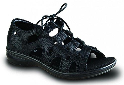 Revere Napier Gilly Chaussure De Confort Pour Femme Avec Pied Amovible: Noir / Lézard 12 Large (d) Dentelle