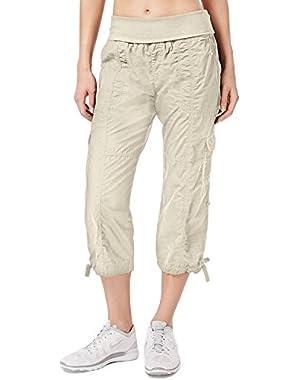 Calvin Klein Womens Adjustable Pull On Cargo Pants