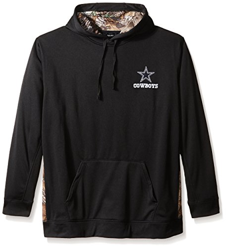 - Dunbrooke Apparel NFL Dallas Cowboys Men's 5436.0Ranger Camo Accent Tech Hoody, Black with Camo, Small