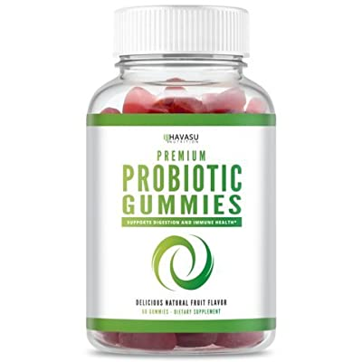 Probiotic Gummies for Adults, Kids, Men & Women - Supports Digestive & Gut Health and Regularity with 1 Billion CFU of Friendly Bacteria - Shelf Stable; Dairy Free; Non-GMO, 60 Gummies