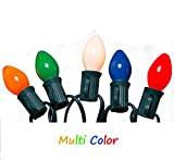 Goothy Christmas Lights(25FT) 5 Multi-Color Outdoor&Indoor Light for Holiday Party Wedding etc,25 Ceramic C7 Light(Plus 2 Extra Bulbs) Review