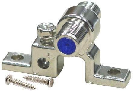 iMBAPrice Single 2.5GHz F-Pin (Coax) Grounding Block - Includes 2 Mounting ()