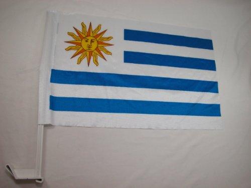 Uruguay Bandera Car Window World Cup Soccer Flag 12