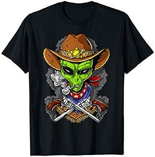 Space Alien Cowboy Cosmic UFO Funny Boys T-shirt | Size S - 5XL
