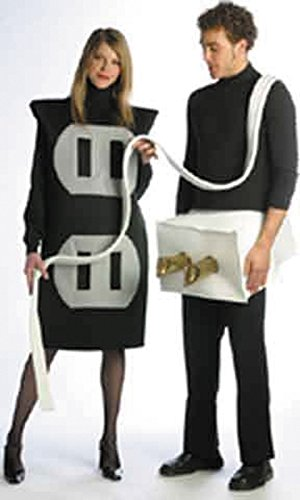 UHC Plug And Socket Set Comical Pair Theme Party Adult Halloween Couple Costume, OS (Superhero Couple Costume)