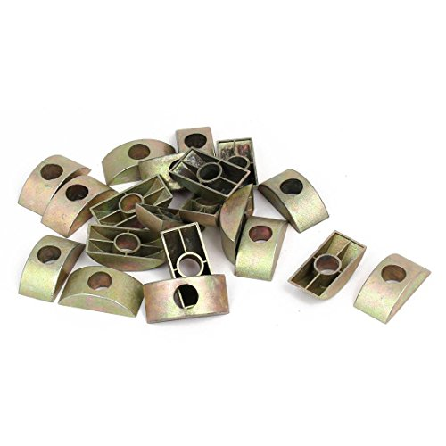 TOOGOO Furniture Connector Half Moon Nuts Spacer Washer Bronze Tone 20PCS ()