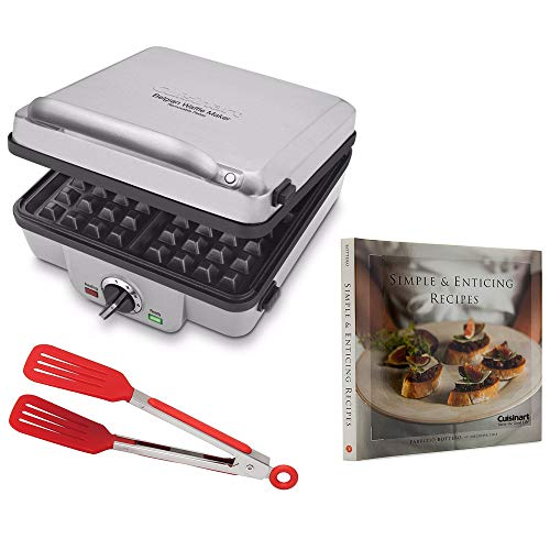 Cuisinart WAF-300 Belgian Waffle Maker with Pancake Plates Includes 8-inch Nylon Flipper Tongs and Cookbook (Renewed)
