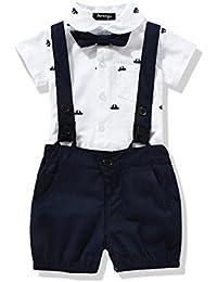 Ferenyi US Baby Boys Bowtie Gentleman Romper Jumpsuit...