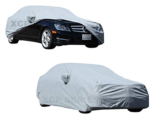 "2010 2011 2012 2013 2014 Mercedes C-Class C250 C350 C63 AMG Car Cover Car Accessories Best Automobile Indoor Outdoor Protection Dust Cover Car Cover up to 180"" (Space Gray)"