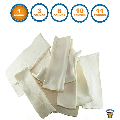 - 123 Treats - Rawhide Chips for Dogs (1 Pound Bag) Quality Dog Rawhide Chews - No Additives, Chemicals or Hormones from Natural Grass Fed Livestock