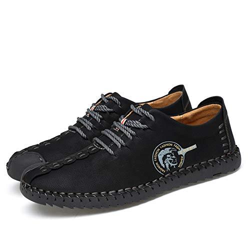 Casual Driving Mocassini Leggeri Slip Oxford Walking Flat Uomo Per Da Shoes On Nero TwTRtOnq