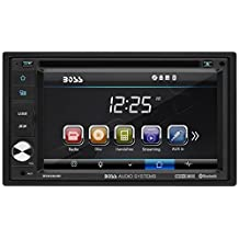 "BOSS Audio BV9362BI Double-DIN 6.2"" Touchscreen DVD Player Receiver, Bluetooth & Wireless Remote, Black"