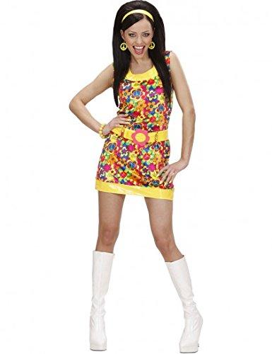Ladies Velvet Peace & Love Girl Costume Small Uk 8-10 For 60s 70s Hippy (Seventies Love Child Costumes)