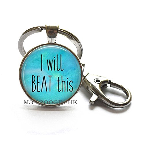 I Will Beat This- Cancer Survivor Jewelry - Breast Cancer Keychain - Cancer Encouragement - Beating Cancer-MT067 -