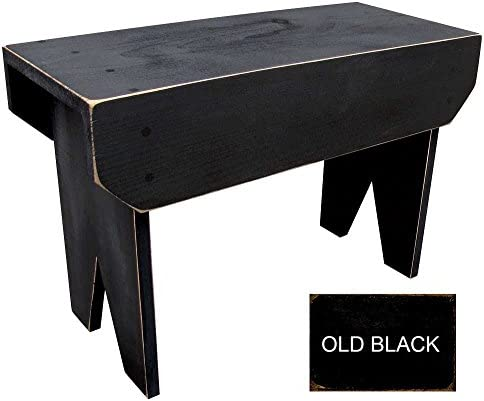 Sawdust City 2 ft Wood Bench Long Old Black