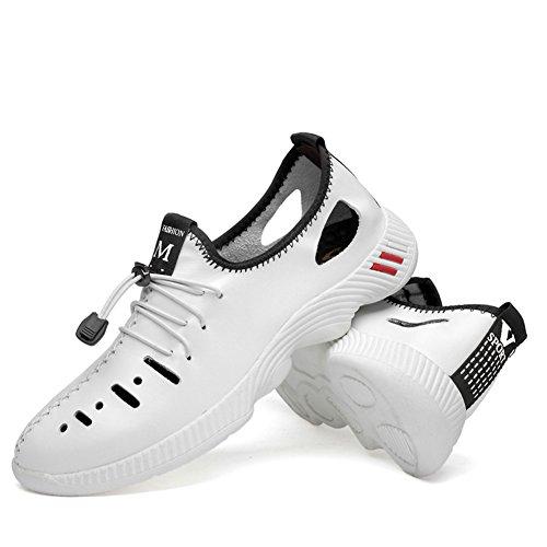 de Hombres para de Zapatos Marea 2018 Hueco Verano Agujero Hombre Tamaño Casuales 47 Zapatos Zapatos Otoño de 35 los de de Zapatos Cuero Size New Genuino de EU Ocio Gran qPxgHA
